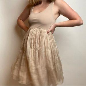 Alice + Olivia Tank Ballerina Dress in Nude/Blush